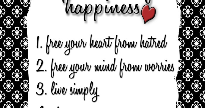 5 Simple Rules to Happiness free print from inkhappi.com