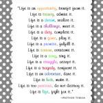 Life… live it