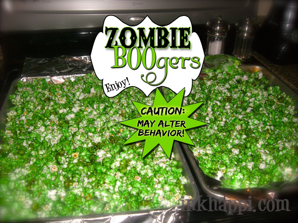 Zombie BOOgers! Something very fun,freaky, delicious, and quick and easy too! {recipe and free printable}