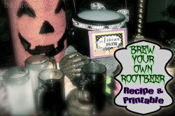 Homemade Root Beer! The {witch} has been brewing…