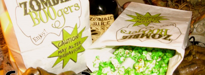 Zombie BOOgers! Something very fun,freaky, delicious, and quick and easy too!