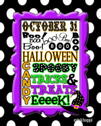 12 BOO's free halloween printable and some FUN halloween jokes to go along with it!