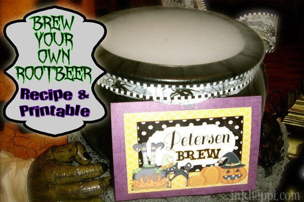 """How to """"BREW"""" your own Homemade Root Beer! Super easy recipe and printable recipe card and tag to go along with it. What ya waitin' for? Go make some NOW!!"""
