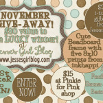 A Giveaway… to one lucky winner!