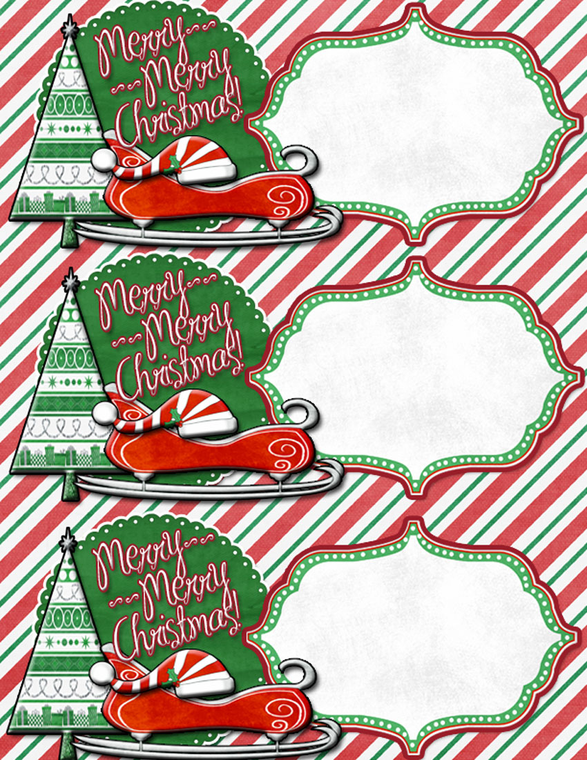 large gift tags to use on friend/neighbor gifts -free printable!