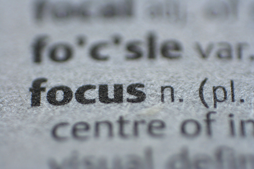 {focus- the word...}