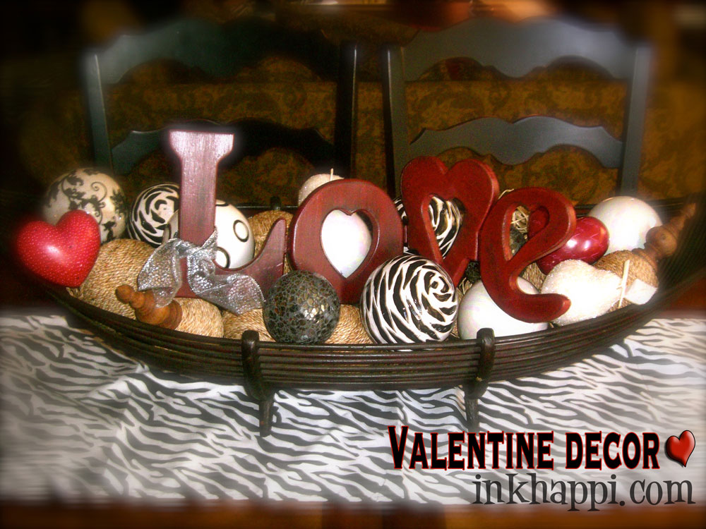 {love balls valentine decor}