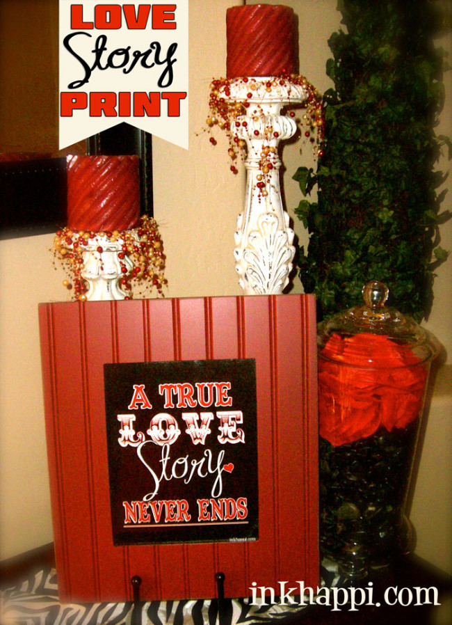 "free ""LOVE STORY"" love print at inkhappi.com"