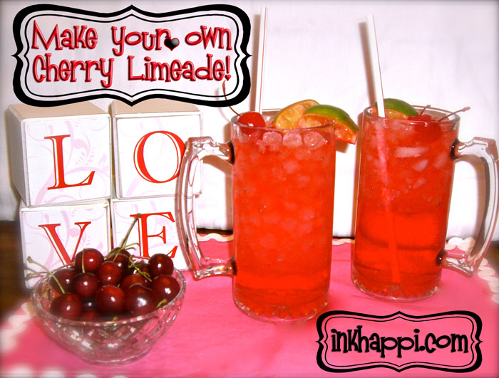 Make your own cherry limeade! {inkhappi.com}
