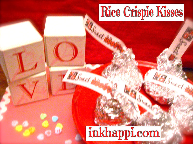 Rice Crispie Kisses at inkhappi.com
