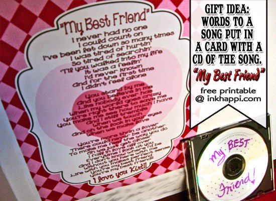 A sweet and sentimental gift/card idea and printable @inkhappi.com