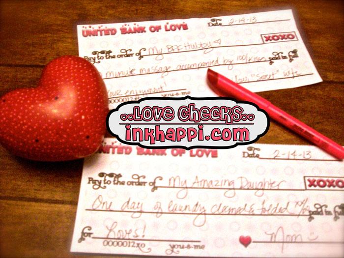 Love Checks <3 w/printable at inkhappi.com