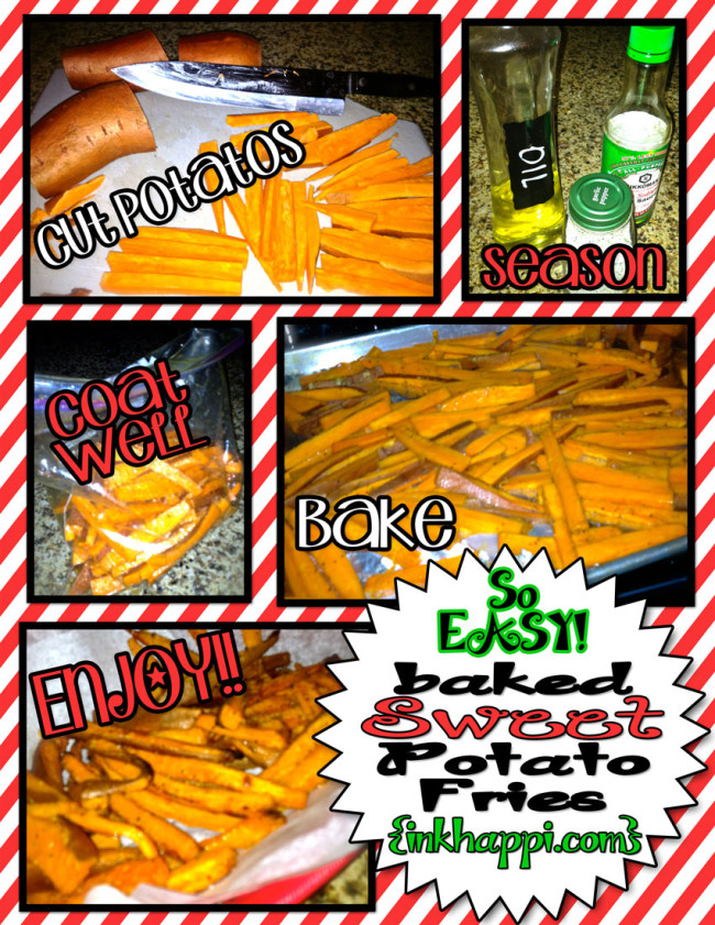 So Easy! Baked sweet potato fries!