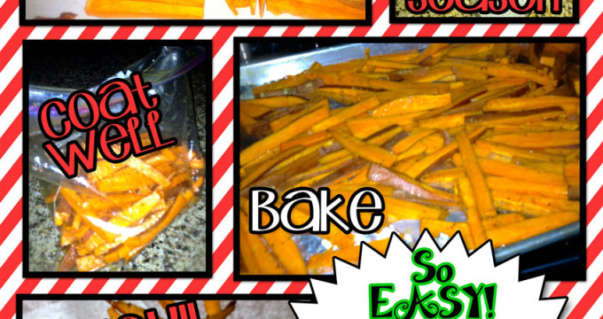 So Easy! Baked sweet potato fries @inkhappi.com