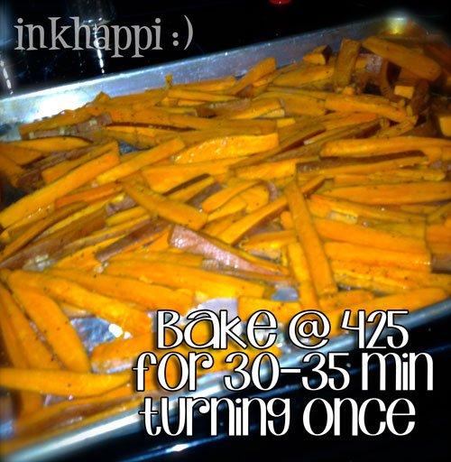 So Easy! Baked sweet potato fries!
