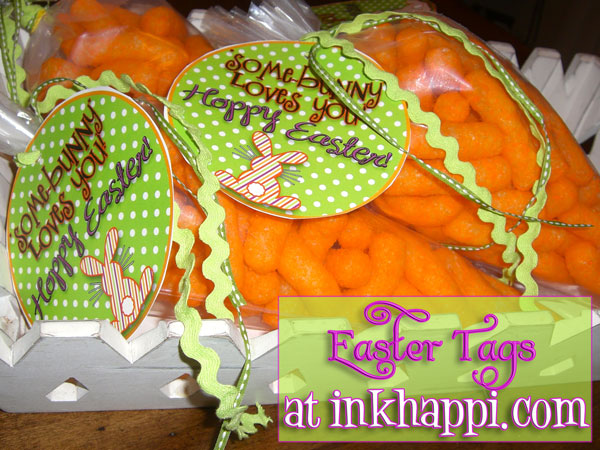 QUICK and EASY! Cheese puff carrots and Easter tags at inkhappi.com