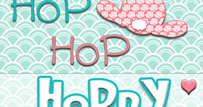 """hop hop hop Hoppy Easter"" FREE printable at https://inkhappi.com"