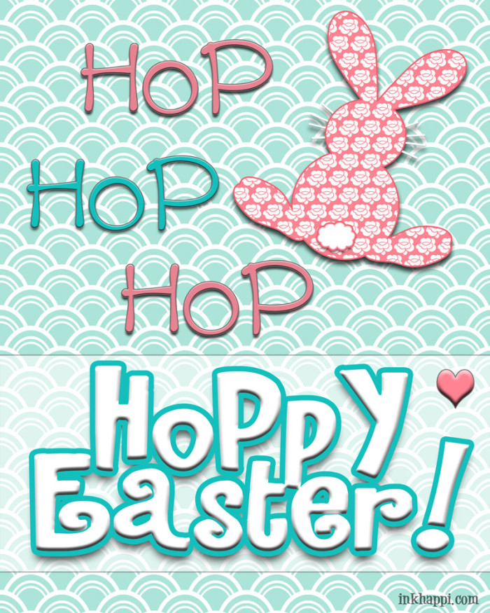 """hop hop hop Hoppy Easter"" FREE printable at http://inkhappi.com"