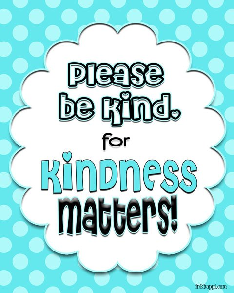 Kindness freebie printables at inkhappi.com