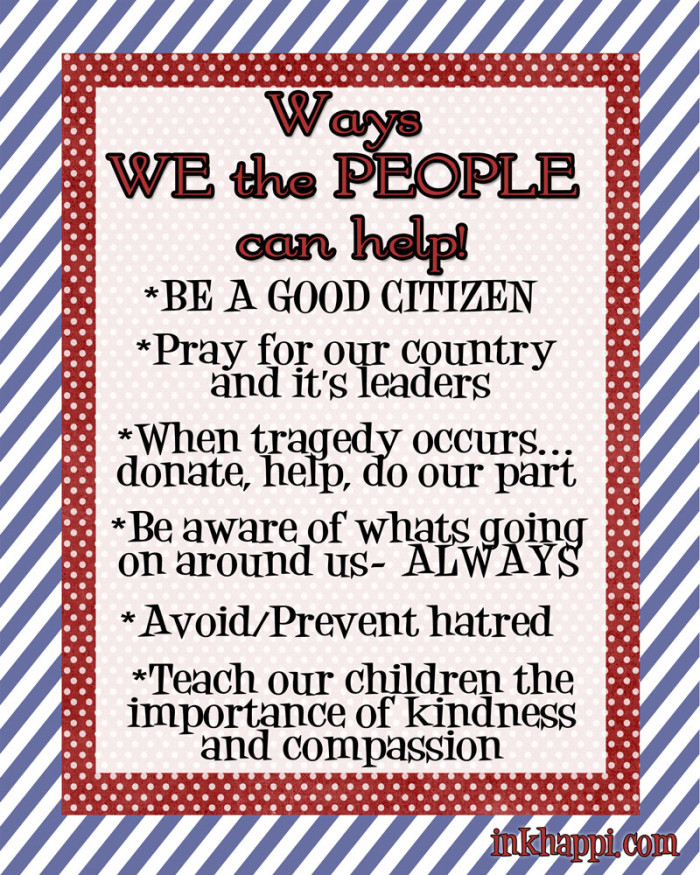 what WE the PEOPLE can do for our Country {America} FREE printables!