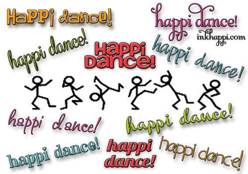 "Doing the ""happi dance"" at inkhappi.com"