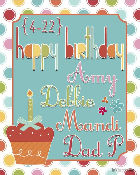 happy-birthday friends! free birthday printables at inkhappi.com