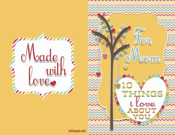 {Ouick and Easy} inspiring, sentimental Mother's Day card from inkhappi.com