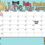 Hello Sunshine! Hello Summer! It's your June Calendar!