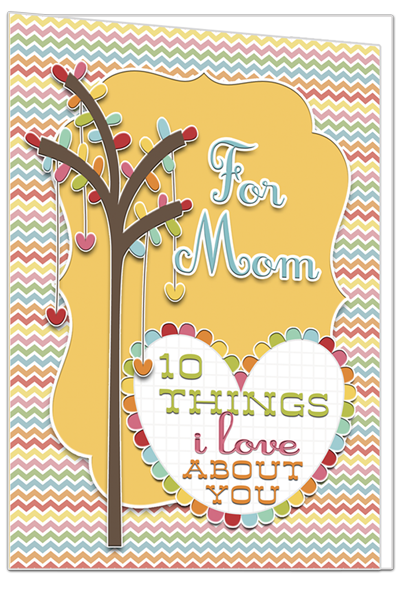 {Ouick & Easy} inspiring, sentimental Mother's Day card from inkhappi.com