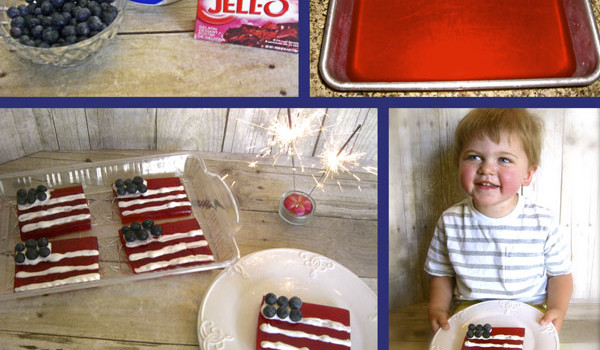 American Flag Jello Jigglers …Patriotic fun with Jello!