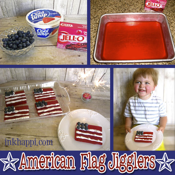 "Have fun with jello! ""American Flag Jello Jigglers"" recipe at inkhappi.com"