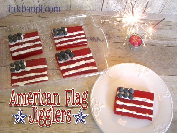 """American Flag Jello Jigglers"" recipe at inkhappi.com"