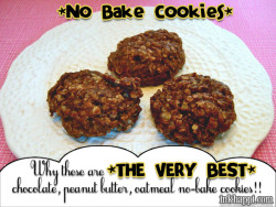 MmmMmmm. No bake Cookies… Why these are the very best!!