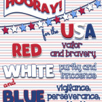 Red, White & Blue… Hooray for the USA! {Printables}