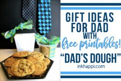 Gift idea for dad... Dads Dough$$ with free printable #giftideafordad #freeprintable #cookies