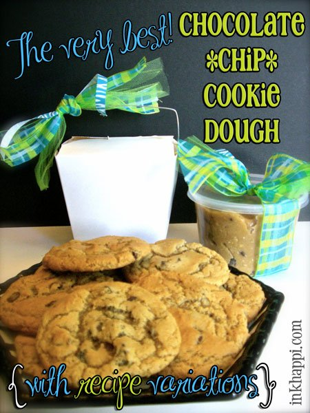 Seriously! This is the best chocolate chip cookie dough! Great gift idea. Recipe and tips with variations at inkhappi.com