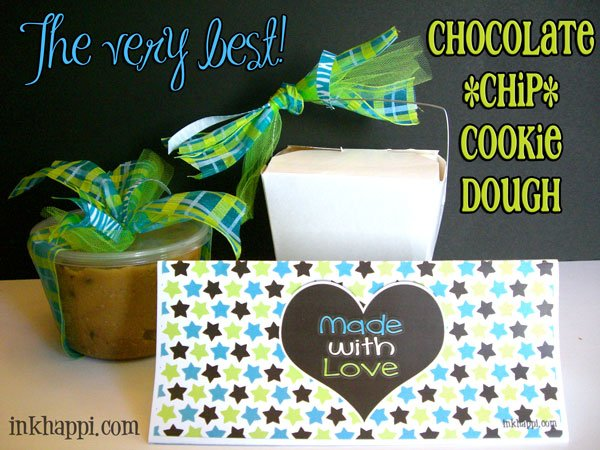 Seriously! This is the best chocolate chip cookie dough! Great gift idea. Recipe with variations at inkhappi.com