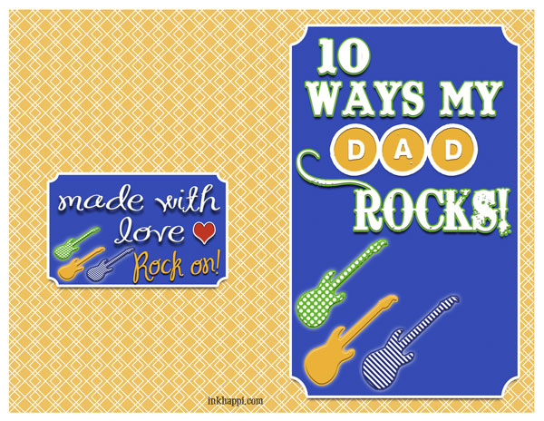 Dad Rocks! Fathers day card with gift ideas at inkhappi.com There is also a generic version... YOU ROCK!