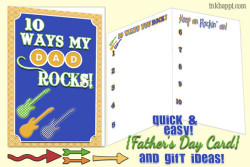 Father's Day Card and Gift Ideas {You rock!}