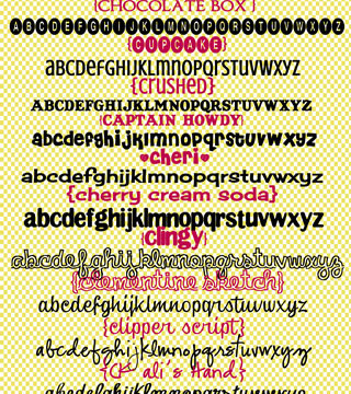 """These are some of my favorite fonts and they all start with a """"C""""! List of fonts and download links at inkhappi.com"""