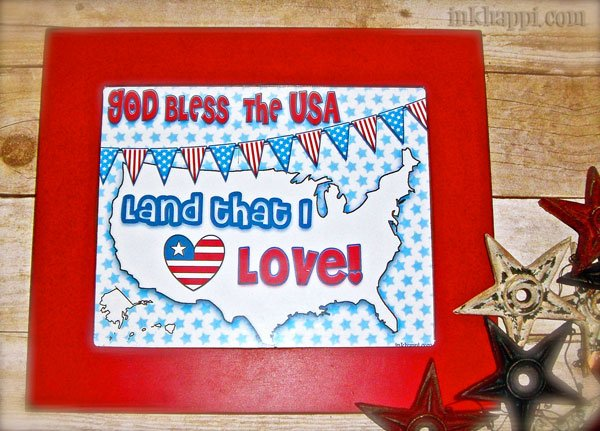 USA- land that I love free patriotic print from inkhappi.com