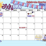 Your July Calendar is here… Celebrate America! Enjoy Life!