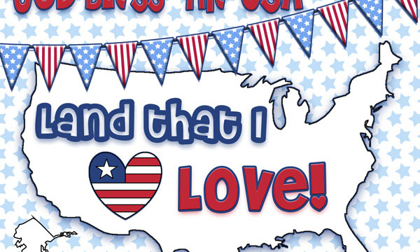 God Bless the USA… land that I love! {free printable}