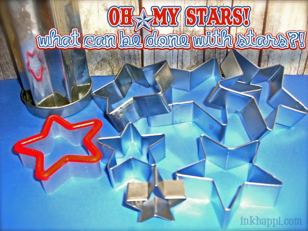 Oh my stars! There is so much you can do with star cookie cutters! Watermelon Stars at inkhappi.com