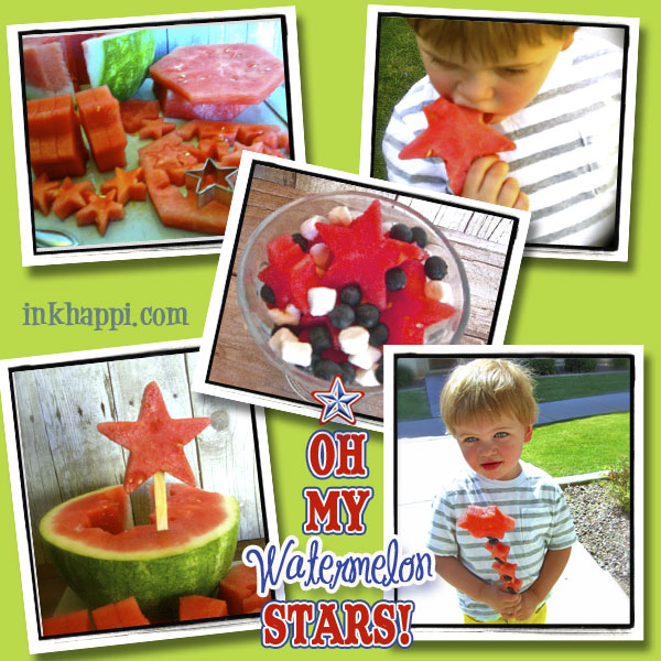 So EASY and FUN!! There is so much you can do with star cookie cutters, and your kids and guests will love you for it! Watermelon Stars at inkhappi.com
