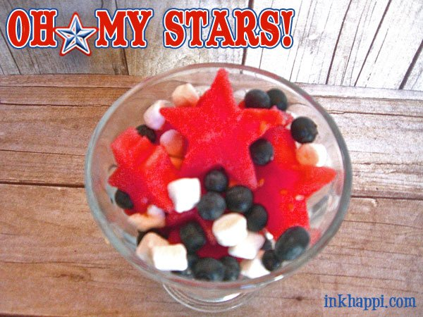 There is so much you can do with star cookie cutters! Make a yummy red, white, and blue watermelon star salad at inkhappi.com