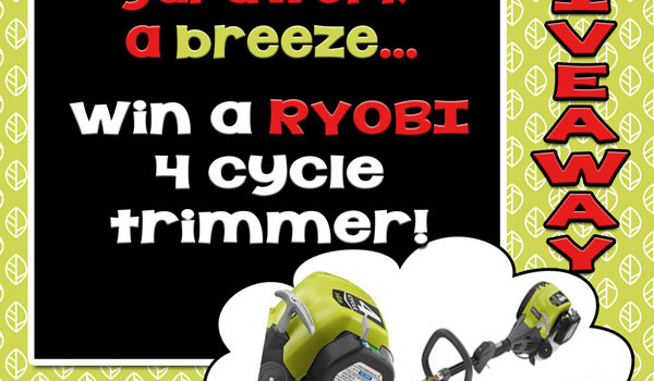 GIVEAWAY: Make summer yardwork a breeze! win this Ryobi 4 cycle trimmer. :)