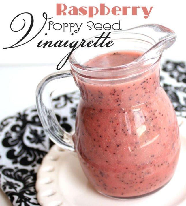 Raspberry Poppy Seed Vinaigrette from Jamie Cooks it up