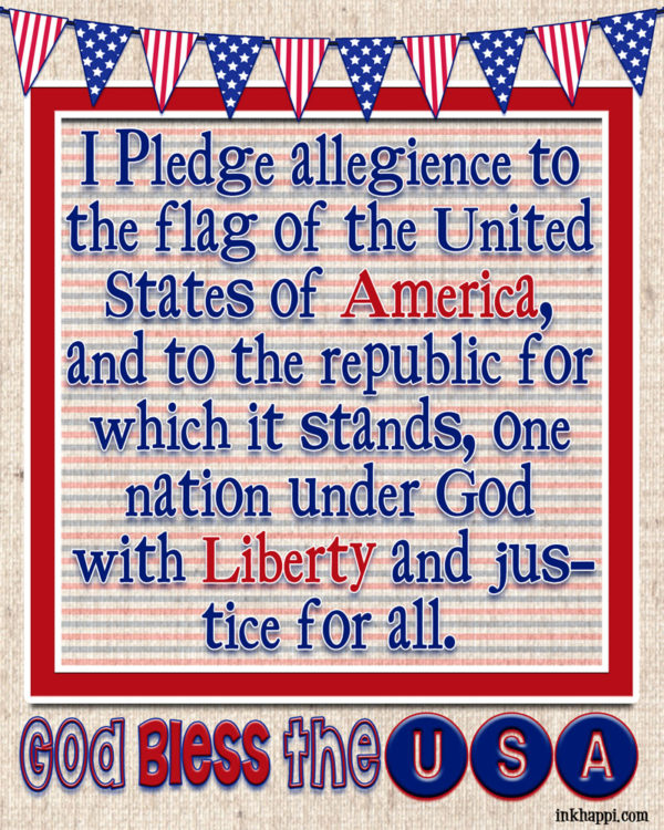 Pledge of Allegience free printable at inkhappi.com
