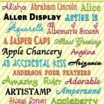 "Free Fonts with Download Links… My favorite ""A"" Fonts!"